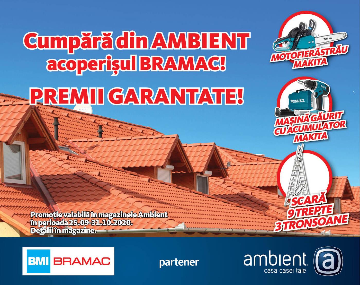 Acoperiș Bramac. Premii garantate