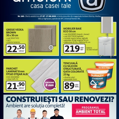 Revista Ambient 160 - Bistrița, Mediaș, Sibiu, Sighișoara
