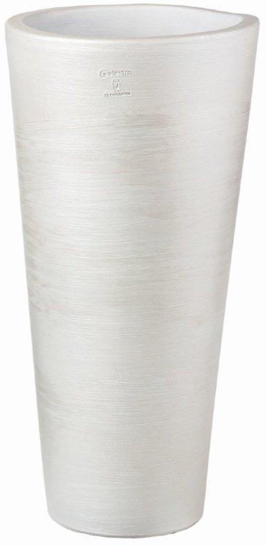 GHIVECI CERAMIC ROTUND ALTO, ALB, 60 CM, 594601