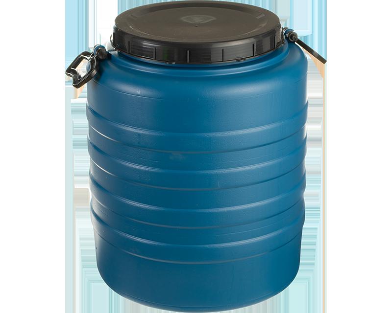 BIDON ALIMENTAR DIN PLASTIC CU MANER SI CAPAC, 120 L AGR