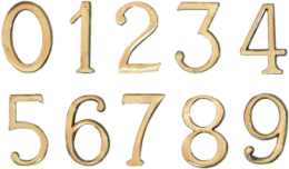CIFRA AUTOADEZIVA 55X35 MM, M0,  644061
