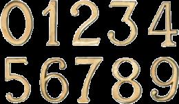 CIFRA AUTOADEZIVA 55X35 MM, M3, 644064