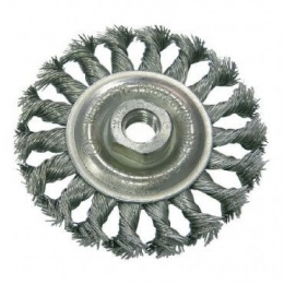 Perie sarma impletita tip circular cu filet 100MM 32530